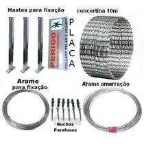 Kit Concertina Protetor Perimetral Cerca Ouriço 10m 300mm