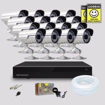 Kit 16 Cameras De Segurança Infravermelho + Dvr Stand Alone