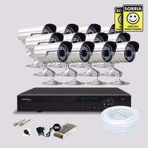 Kit Segurança Dvr Stand Alone 16 Canais Intelbras 10 Cameras