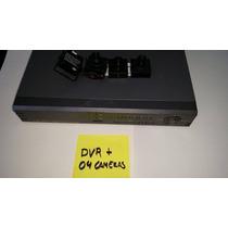 Dvr 4 Canais H264 + 02 Mini Cameras Ccd Color