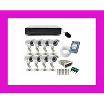 Kit Cftv Dvr 8ch + 8 Cam Externa Infra 1000l + Hd 1tb + Rolo