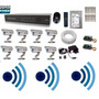 Kit Cftv 8 Cam Infra Verm. Hd 1tb Dvr 16 Canais Com Audio