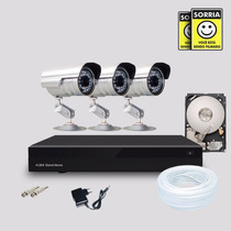 Kit Segurança Dvr Stand Alone 4 Canais + 1 Hd 3 Câmera Infra