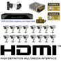 Kit Cftv 16 Cameras Sony Dvr 16 Canais Plat Intelbras Fonte