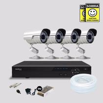 Kit Segurança Dvr Stand Alone 4 Canais Intelbras C/4 Cameras