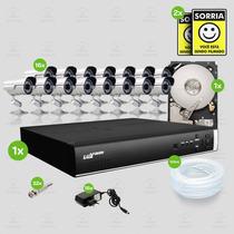Kit Segurança Dvr Luxvision 16 Canais 1 Hd 16 Câmera Sony