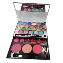Kit De Maquiagem Ruby Rose Com Sombras, Blushes E Batons