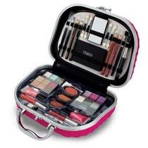 Maleta Maquiagem Fenzza Rosa Pink Varios Itens+brinde
