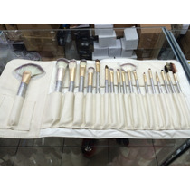 Kit Com 18 Pinceis .pelo Natural Para Maquiagem