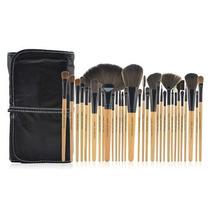 Pincel Makeup 32 Peças 2 Cores Cerdas Naturais-aproveite!!!