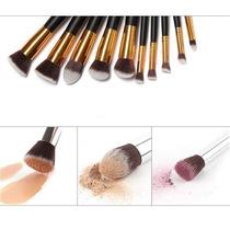 Kit Pincéis De Maquiagem Profissional - Luxo - 10 Peças