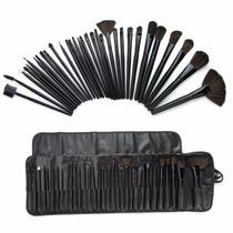 Maquiagem Suave Profissional Escova Kit + Bolsa Case 32 Peç