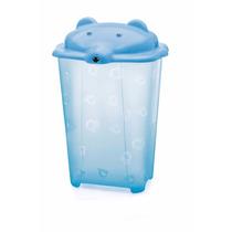 Cesto Urso Para Roupas De Bebê Adoleta Translúcido 44 L Azul