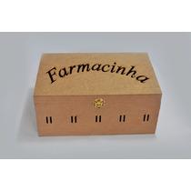 Caixa Farmacinha Com Passa Fita Laser - Mdf - Madeira