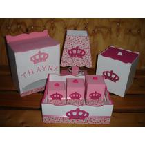 Kit Higiene Bebê 7 Peças Princesa Menina Rosa Mdf + Brinde