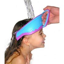 Protetor Viseira Chapeu Lava Cabeça Banho Bebês Criança Olho