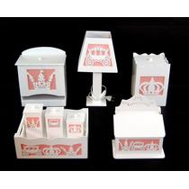 Kit Quarto Bebê Higiene Banho Mdf Farmacinha Princesa 3d