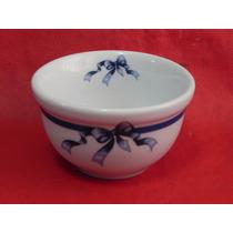 Tigela Molhadeira Porcelana Kit Banheiro Pia Azul Presente