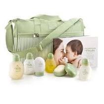 Kit Higiene Bebe Natura Mamãe E Bebê C/ Bolsa Trocador
