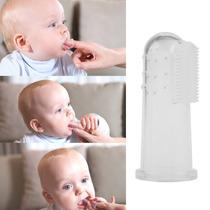 Escova De Dentes De Dedo Bebês Em Silicone Massageador