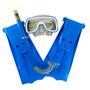 Kit Mergulho Completo 3 Peças Mascara Snorkel Nadadeira X809