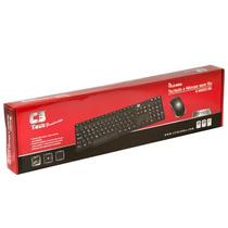 Teclado E Mouse Sem Fio 2.4ghz Wireless C3tech Até 10 Metros
