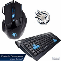 Kit Gamer Black Hawk Teclado + Mouse 2400 Dpi Usb Não Razer