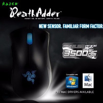 Mouse Original Razer Deathadder Blue 3500dpi - Frete Gratis