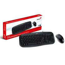 Kit Teclado E Mouse Genius Km-200 Usb Teclado Multimidia