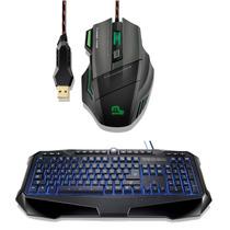 Kit Gamer Macro Multilaser Teclado Iluminado+mouse Fire 3200
