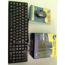 Kit Teclado Usb, Mouse Usb E Caixa De Som