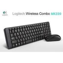 Kit Teclado E Mouse S/ Fio Wireless Logitech Mk220