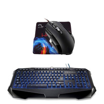 Kit Gamer Iluminum Warrior Teclado Usb + Mouse 3200 Dpi