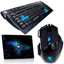 Kit Gamer Black Hawk Teclado + Mouse + Mouse Pad