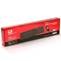 Kit Mouse E Teclado C3tech Wirelless K-w600bk - Sem Fio