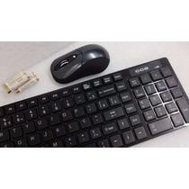 Kit Teclado E Mouse Sem Fio Wireless Oferta Barato C/garanti