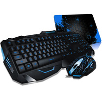 Kit Gamer Iluminado C/ Led Mouse + Teclado Multimídia Abnt