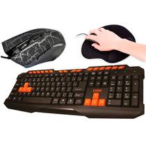 Kit Teclado + Mouse+ Mouse Pad Para Jogos Frete Grátis