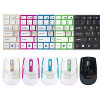 Teclado + Mouse Óptico Sem Fio Wireless Slim Alumínio 2.4ghz