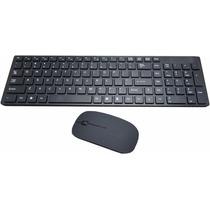 Kit Teclado E Mouse S/fio Wireless 1600 Dpi Pronta Entrega