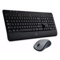 Kit Teclado E Mouse Laser Sem Fio Wireless Logitech Mk520