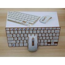 Teclado E Mouse Hk-3910 S/ Fio Ultrafino 2.4ghz Wireless Usb