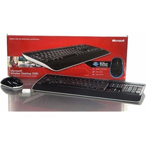 Kit Teclado Microsoft + Mouse Usb Wireless Desktop 3000 Nf