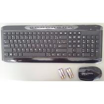 Kit Teclado + Mouse Wireless S/ Fio - Macio E Confortável