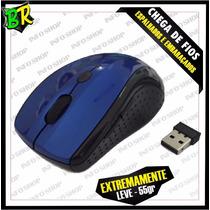 Mouse Wireless Sem Fio 2.4ghz 1200/1600dpi Receptor Usb