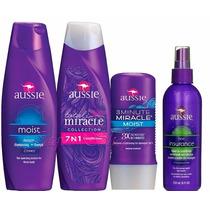 Kit Aussie Shampoo+condicionador+miracle+leave-in Promoção