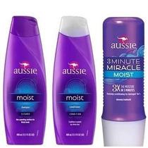 Kit Aussie Shampoo+condicionador+3 Minute Miracle-original