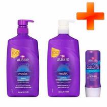 Kit Aussie Moist 836ml Shampoo+condicionar+creme Hidratante