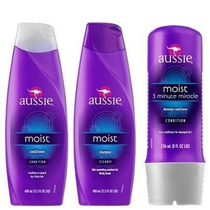 Kit Aussie Moist - Shampoo + Condicionador + Creme 3 Minute