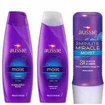Kit Aussie Shampoo + Condicionador + 3 Minute Miracle